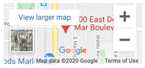 pasadena location map